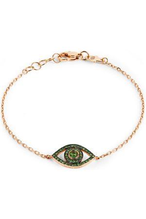 NETALI NISSIM Women Bracelets - Rose Gold, Tsavorite and Quartz Protected Bracelet