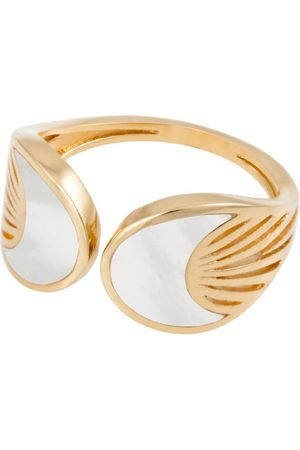 L'Atelier Nawbar Yellow Gold and Mother-of-Pearl Cosmic Rays Moon Ring (Size 54)