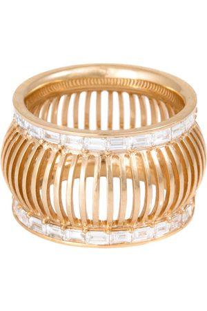 L'Atelier Nawbar Yellow Gold and Diamond Cosmic Rays Twin Rays Ring (Size 52)