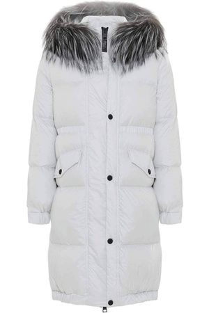 Mr & Mrs Italy Women Jackets - Long Down Jacket For Woman With Fox Fur