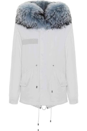Mr & Mrs Italy Women Parkas - Jazzy Mini Parka For Woman With Raccoon Fur