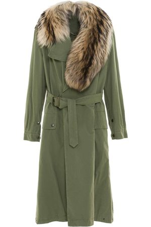 Mr & Mrs Italy Nick Wooster Unisex Trench With Fur Scarf