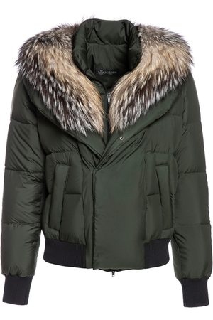 Mr & Mrs Italy Women Jackets - Short Puffer Jacket For Woman With Fox Fur