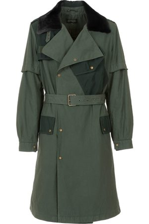 Mr & Mrs Italy Trench Coats - Nick Wooster Capsule Unisex Trench With Lamb Fur