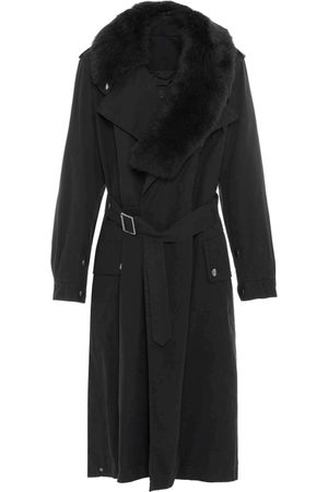 Mr & Mrs Italy Trench Coats - Nick Wooster Unisex Trench With Shearling Scarf