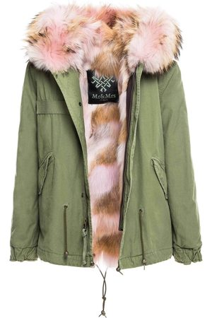 Mr & Mrs Italy Fw20 Icon Parka: Army Mini Parka With Coyote Fur