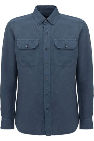 Tom Ford Garment Dyed Linen & Cotton Shirt