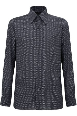 Tom Ford Men Shirts - Geometric Print Lyocell Shirt