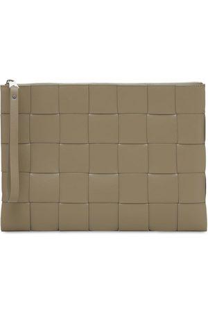 Bottega Veneta Maxi Intreccio Leather Pouch