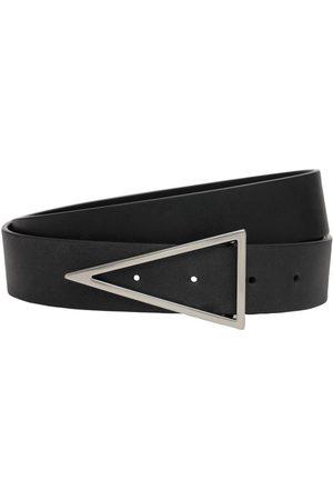 Bottega Veneta 3cm V Buckle Leather Belt