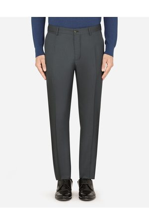 Dolce & Gabbana Men Trousers - Trousers and Shorts - WOOL AND SILK PANTS male 48