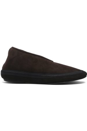 The Row Fairy Suede And Shearling Boots - Womens - Dark