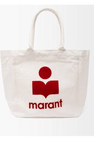 Isabel Marant Women Handbags - Yenky Logo-flocked Cotton-canvas Tote Bag - Womens