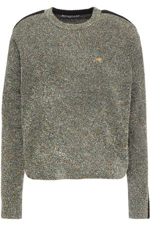 BELLA FREUD Woman Teeny Bopper Cropped Embroidered Tinsel Sweater Size L