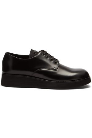 Prada Chunky-sole Leather Derby Shoes - Mens