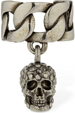 Alexander McQueen Chain Crystal Skull Mono Ear Cuff