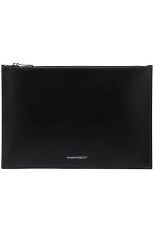 Alexander McQueen Foiled-logo Leather Pouch - Mens