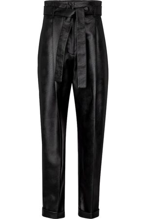 Serafini Women Leather Trousers - High-rise faux leather tapered pants