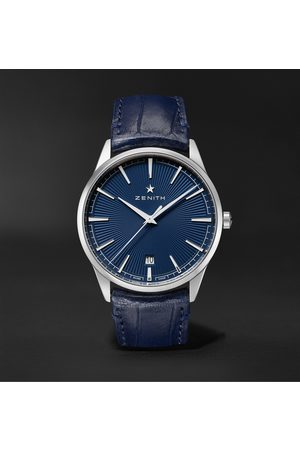Zenith Men Watches - Elite Classic Automatic 40.5mm Stainless Steel and Alligator Watch, Ref. No. 03.3100.670/02.C922