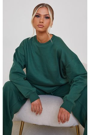 PRETTYLITTLETHING Forest Oversized Sweater