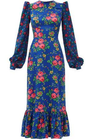 The Vampire's Wife The Villanelle Floral-print Cotton Midi Dress - Womens - Multi