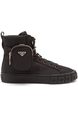 Prada Cassetta Wheel Recycled-nylon High-top Trainers - Womens