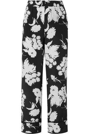 Ganni Woman Kochhar Floral-print Silk Crepe De Chine Straight-leg Pants Size 34