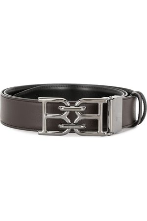 Bally Logo buckle leather belt