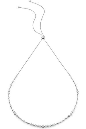 De Beers Women Necklaces - 18kt white gold Arpeggia diamond choker and headband