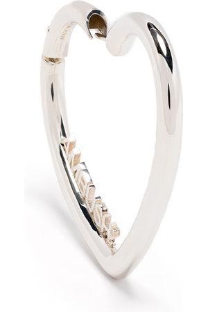 AMBUSH Earrings - Small heart hoop earrings