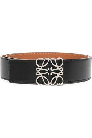 Loewe Anagram plaque leather belt