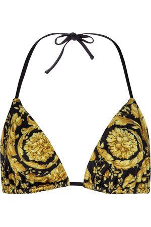 VERSACE Barocco triangle bikini top