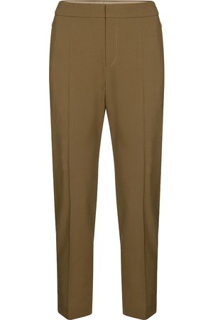 Chloé Cropped slim stretch-wool pants