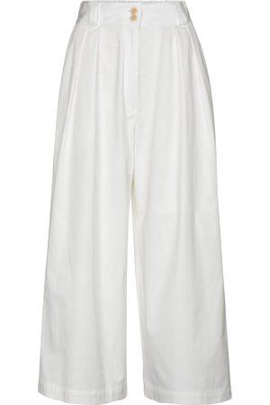Etro Stretch-cotton wide-leg pants
