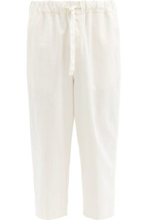 Raey Men Trousers - Relaxed-fit Elasticated-waist Linen-blend Trousers - Mens