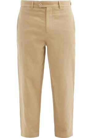 Raey Tapered-leg Cotton And Linen-blend Trousers - Mens