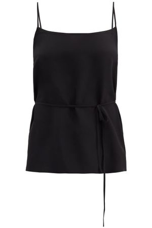 Raey Women Singlets - Tie-waist Silk Crepe De Chine Cami Top - Womens