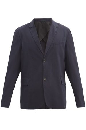 Raey Relaxed-fit Single-breasted Cotton Blazer - Mens - Navy