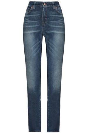 7 for all Mankind Women Trousers - DENIM - Denim trousers