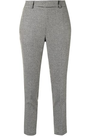 Twin-Set Women Trousers - Houndstooth tapered trousers