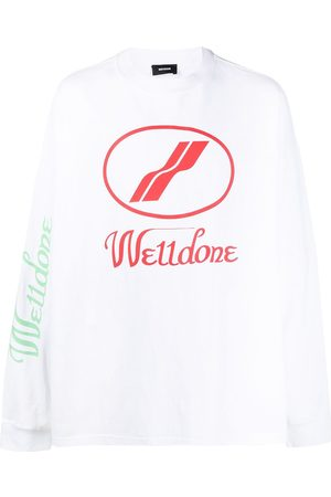 We11 Done Logo print long-sleeved T-shirt