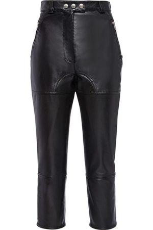 Miu Miu Cropped leather trousers