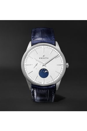 Zenith Elite Moonphase Ultra Thin Automatic 40.5mm Stainless Steel and Alligator Watch, Ref. No. 03.3100.692/01.C922
