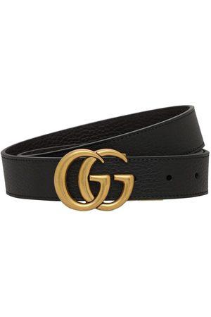 Gucci 3cm Gg Reversible Leathers Belt