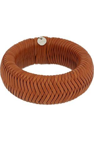 Jil Sander Woven Leather Cuff Bracelet