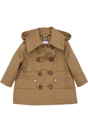 Burberry Double Breasted Cotton Trench Coat
