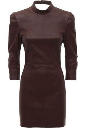 Zeynep Arcay Women Dresses - Backless Stretch Leather Mini Dress