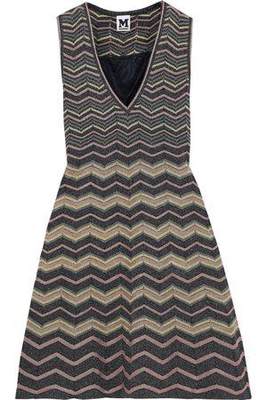 M Missoni Woman Metallic Crochet-knit Mini Dress Multicolor Size 46