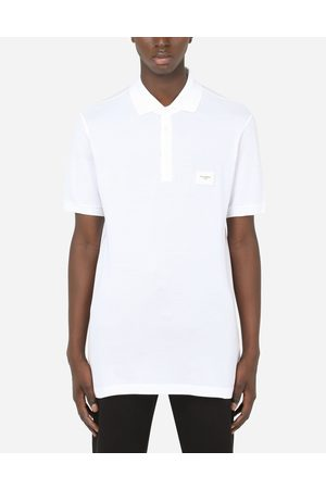 Dolce & Gabbana Men Polo Shirts - T-Shirts and Polos - COTTON PIQUÉ POLO SHIRT WITH BRANDED PLATE male 44