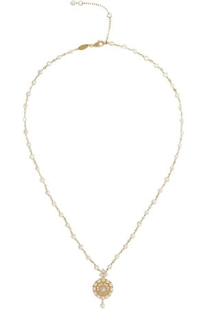 Dolce & Gabbana 18kt yellow pearl rosette pendant necklace